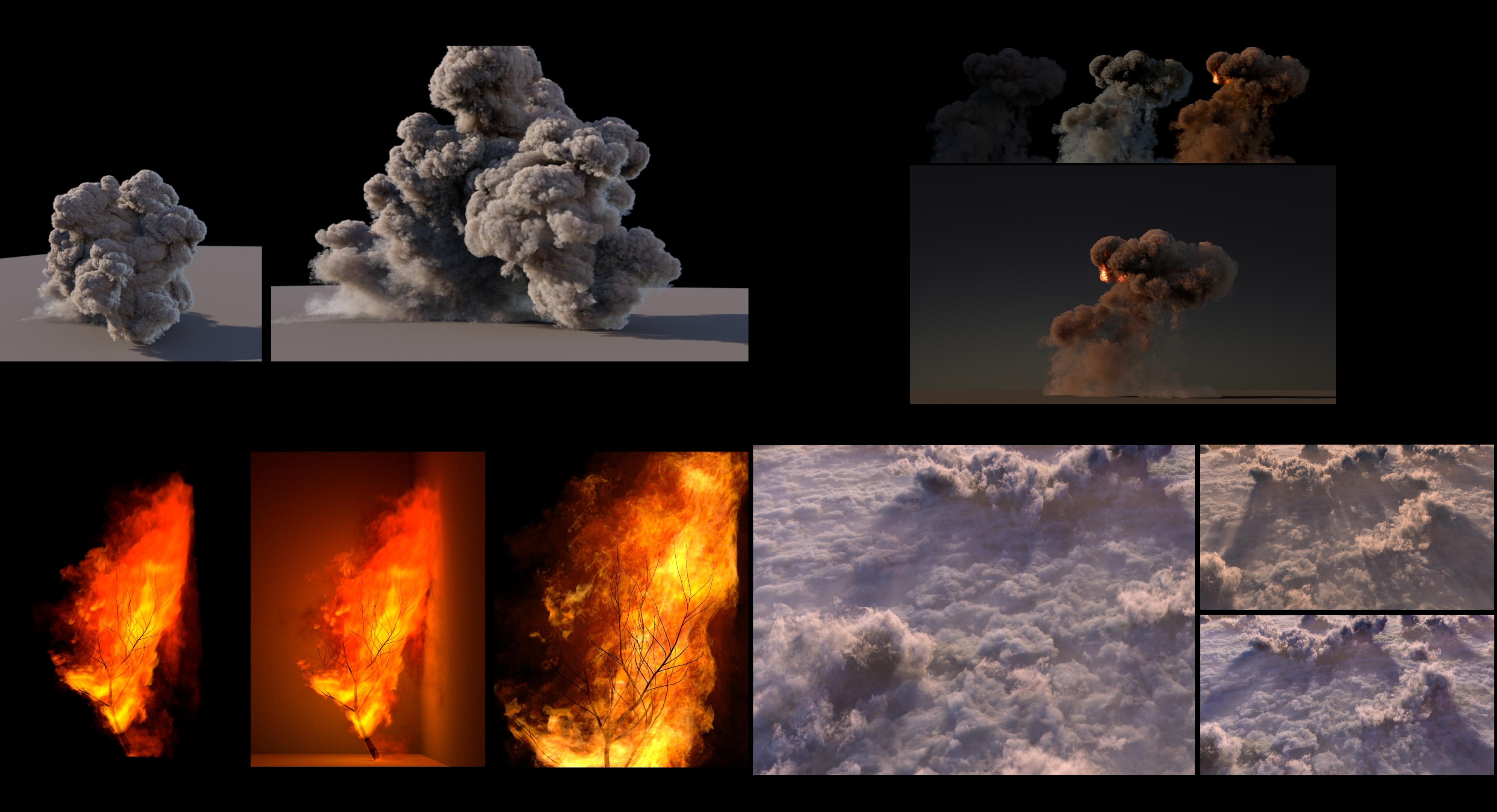 Volume rendering using houdini & arnold