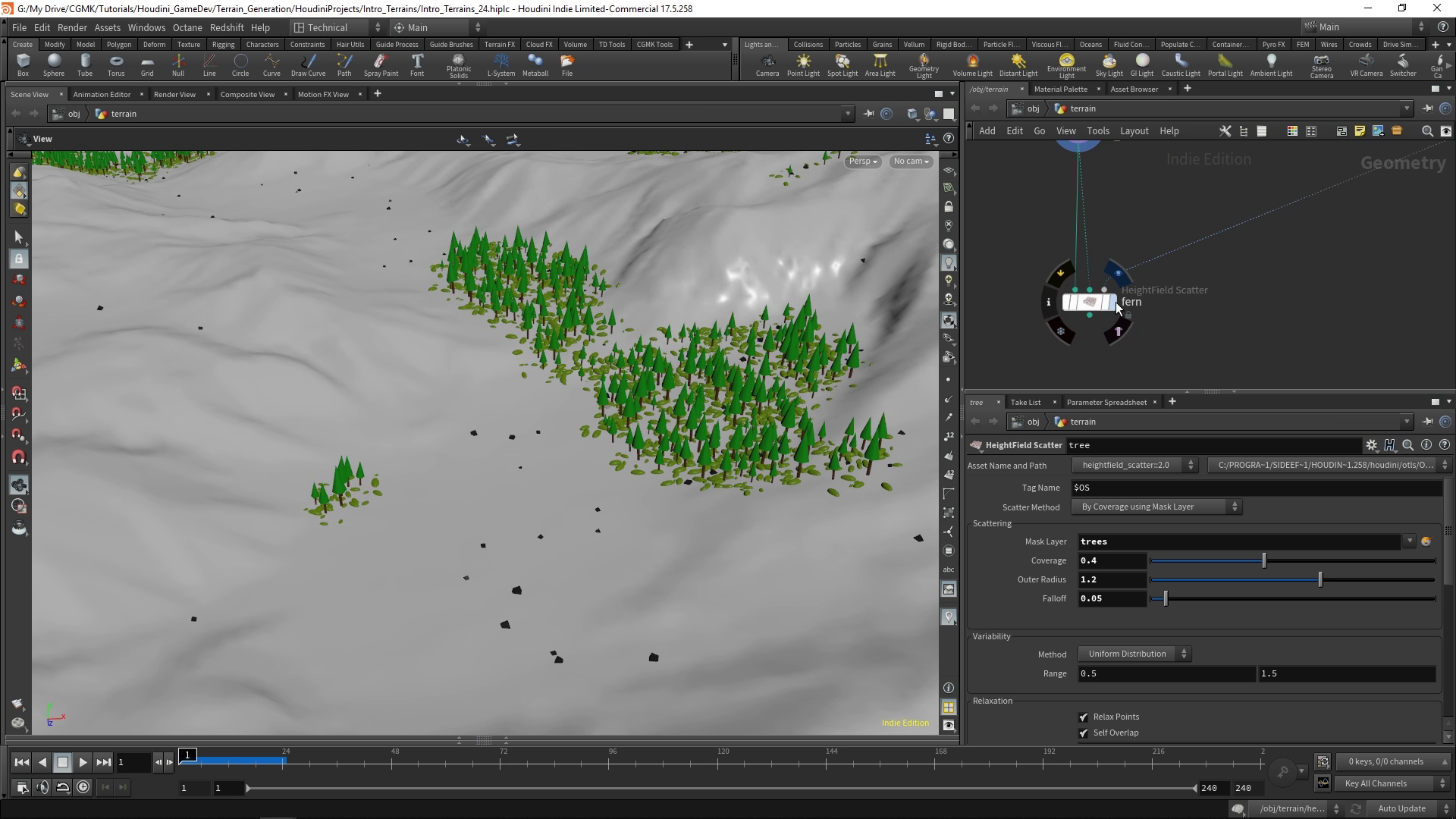 Intro to Terrains in Houdini and Unreal